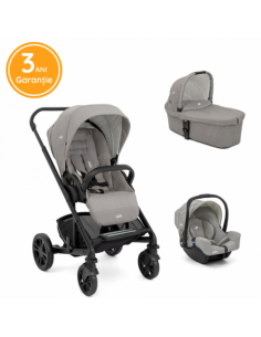 Joie – Carucior multifunctional 3 in 1 Chrome Pebble