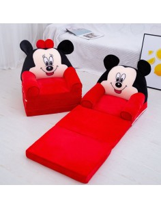Fotoliu din Plus Extensibil Minnie, Mickey Mouse, 3 Placi, 115 cm