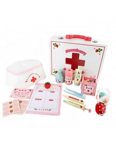 Set Jucarie Trusa Doctor din Lemn - Strawberry Doctor