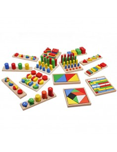 Set 14 Jucarii Montessori Educative din Lemn