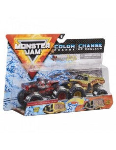 Monster Jam Set 2 Masinute Northern Nightmare Si Earth Shaker Color Change
